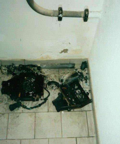 Разрушение вводного щита электроустановки от удара молнии - рис. 2